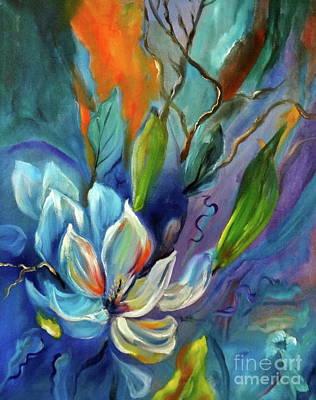 Surreal Magnolias Poster