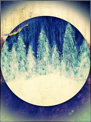 Surreal Winter Wilderness Poster by Scott Haley