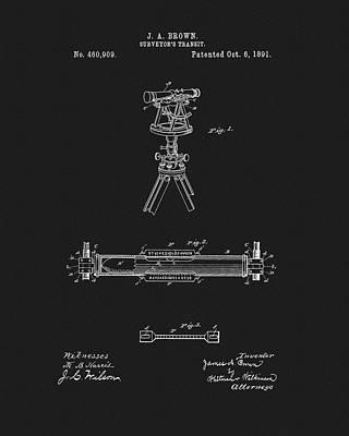 Surveyor's Transit Patent Poster by Dan Sproul