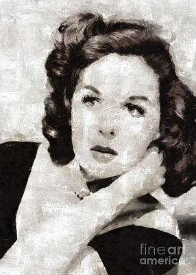 Susan Hayward, Vintage Actress By Mary Bassett Poster
