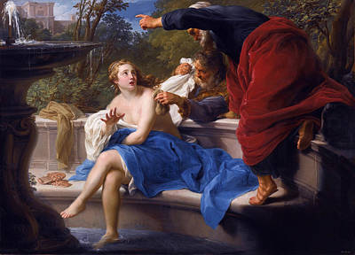 Susanna And The Elders Poster by Pompeo Batoni