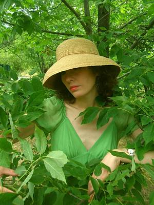 Susanne In Green  Poster by Brian Dahlen