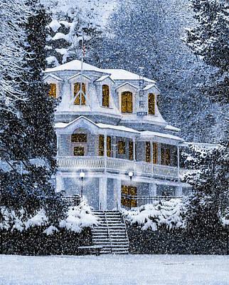 Susanville Elks Lodge At Christmas Poster
