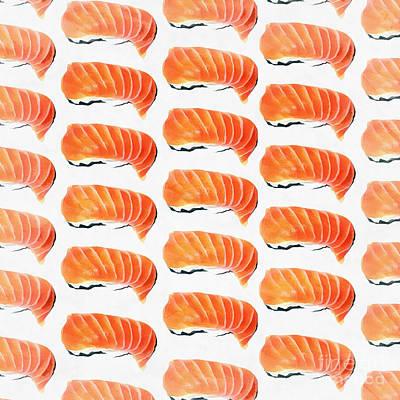 Sushi Pattern Poster by Edward Fielding