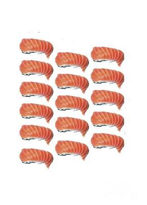 Sushi T-shirt Poster by Edward Fielding