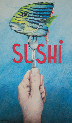 Sushi Poster by Tom Renner