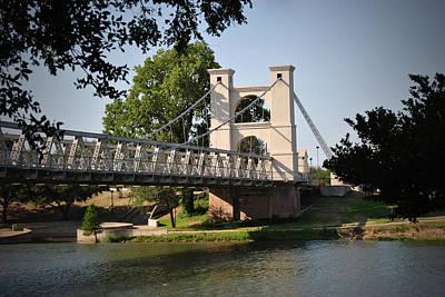 Suspension Bridge-waco Texas Poster