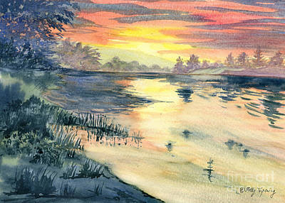 Susquehanna River Sunset Poster by Melly Terpening