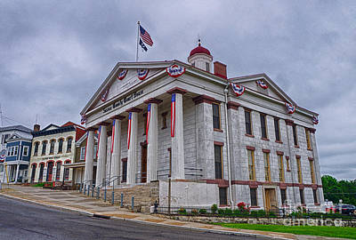 Poster featuring the photograph Sussex County Courthouse by Mark Miller