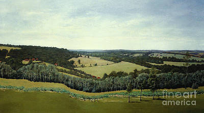 Sussex England - Landscape In Oils Poster