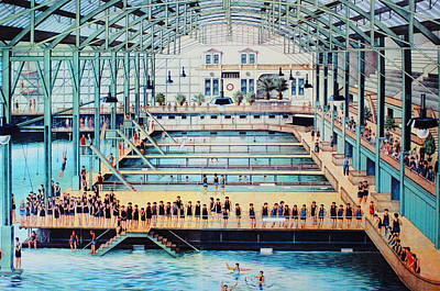 Sutro Baths At The Cliff House Poster