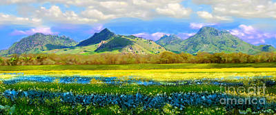 Sutter Buttes In Spring Poster
