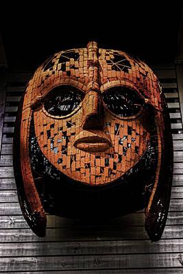Sutton Hoo - Saxon Mask Poster