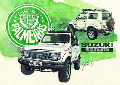 Suzuki Samurai Poster by Yoshiharu Miyakawa