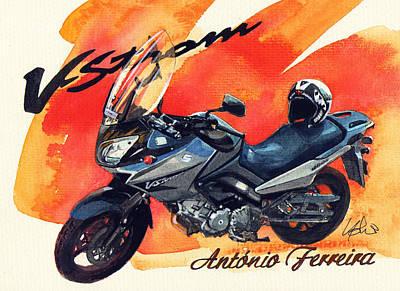 Suzuki Strom 650 Poster by Yoshiharu Miyakawa