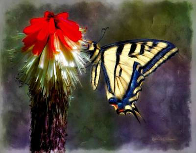 Swallow Tail Paintography Poster by Barbara Chichester