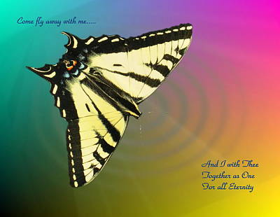 Swallowtail - Come Fly Away With Me Poster by Joyce Dickens