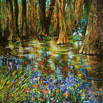 Swamp Iris Poster by Dianne Parks