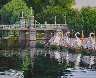 Swan Boats Boston Common Poster