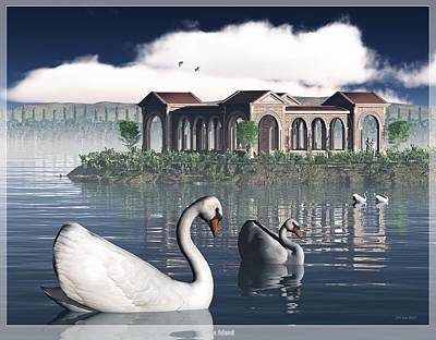 Swan Island Poster by Jim Coe