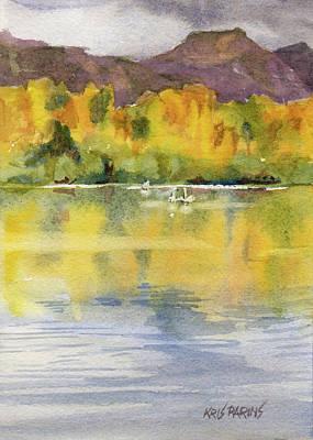 Swan Lake Poster by Kris Parins