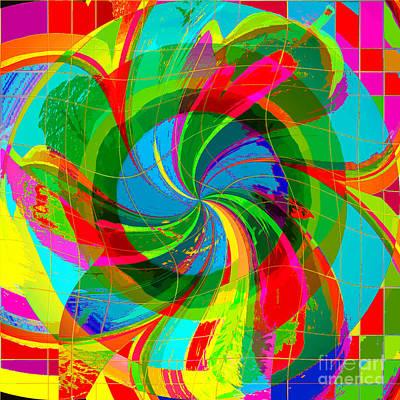Poster featuring the digital art Swan-river by Loko Suederdiek