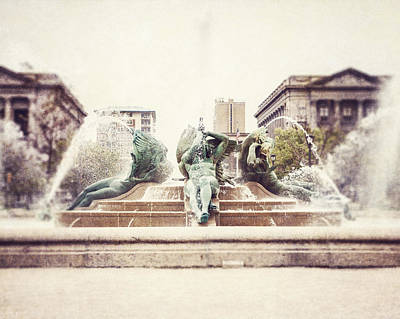 Swann Memorial Fountain Poster by Lisa Russo