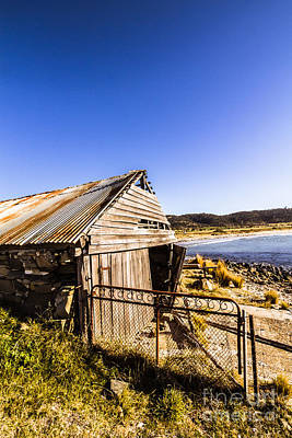 Swansea Boat Shack Poster by Jorgo Photography - Wall Art Gallery
