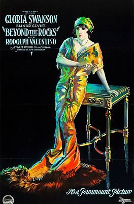Swanson And Valentino In Beyond The Rocks 1922 Poster