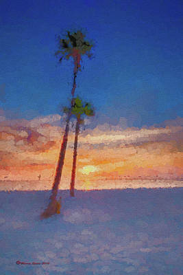 Swaying Palms Poster by Marvin Spates