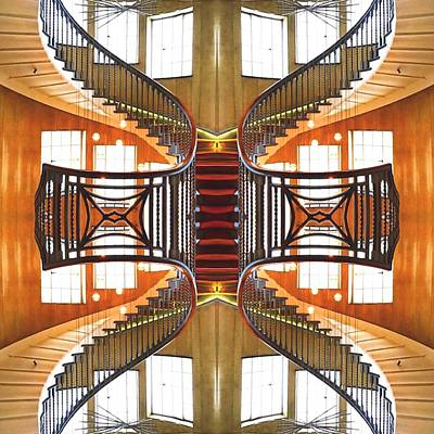 Sweeping Staircase Poster by Steve Swindells