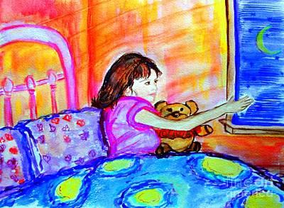 Sweet Dreams Angels--love Olivia Poster by Helena Bebirian