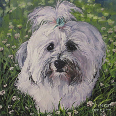Poster featuring the painting Sweet Havanese Dog by Lee Ann Shepard