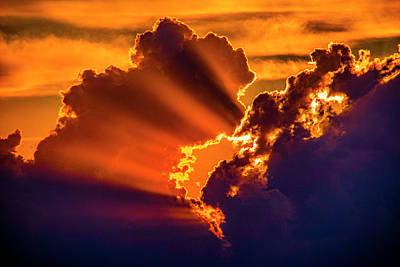Poster featuring the photograph Sweet Nebraska Crepuscular Rays 010 by NebraskaSC