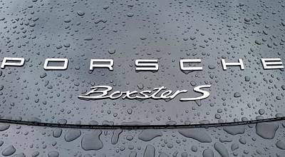 Rain Drops On A Porsche Boxster S Poster by Fiona Kennard
