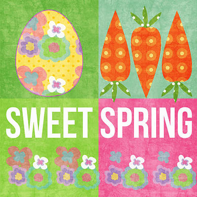 Sweet Spring Poster by Linda Woods