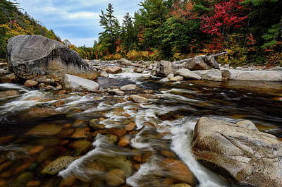 Swift River Autumn Nh Poster