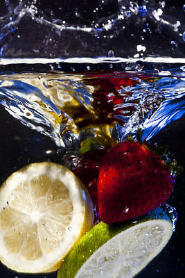 Swimming Fruits Poster by Jon Glaser