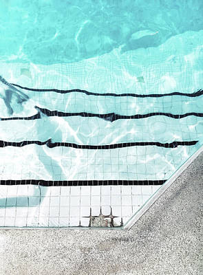 Swimming Pool Edge Poster by Tom Gowanlock