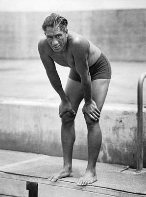 Swimming Star Duke Kahanamoku Poster by Underwood Archives
