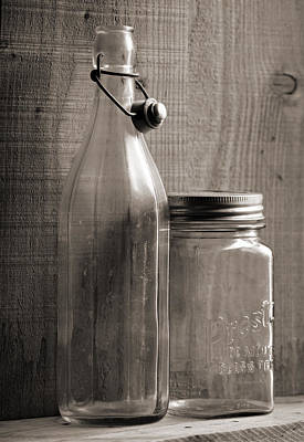 Jar And Bottle  Poster by Sandra Church