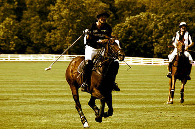swinging Polo player Poster