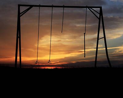 Swingset Sunset Poster
