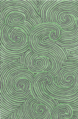 Poster featuring the drawing Swirl Power by Jill Lenzmeier