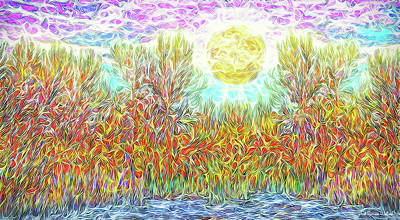 Poster featuring the digital art Swirling Brilliant Trees - Boulder County Colorado by Joel Bruce Wallach