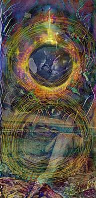 Swirling Rainbow Awakening  Poster