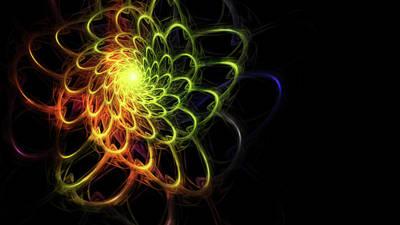 Swirls Of Color Poster by Rhonda Barrett