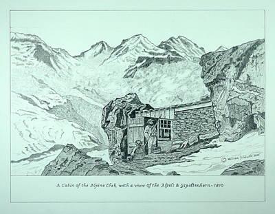 Swiss Alpine Cabin Poster