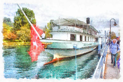Swiss Tourist Boat Ready To Go Poster