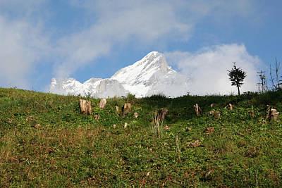 Switzerland Snow Capped Alps Landscape Poster